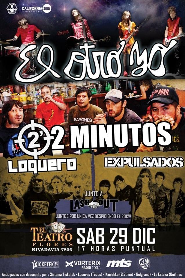 EL OTRO YO + 2 MINUTOS + LOQUERO + EXPULSADOS