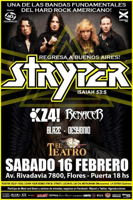 STRYPER EN EL TEATRO FLORES 16/2/13